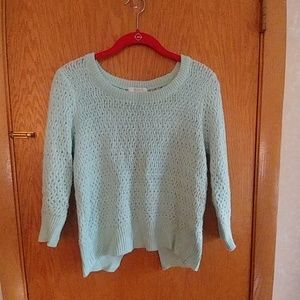 Mint green bow sweater